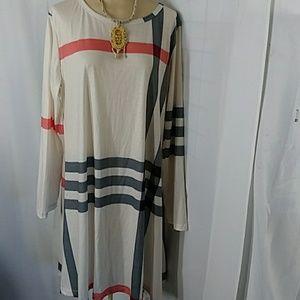 Off White with stripes Mini dress